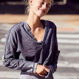 Free People Tops - free People Activate Gray Long Sleeve Top